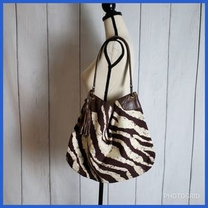 Banana Republic Zebra Hobo Bag